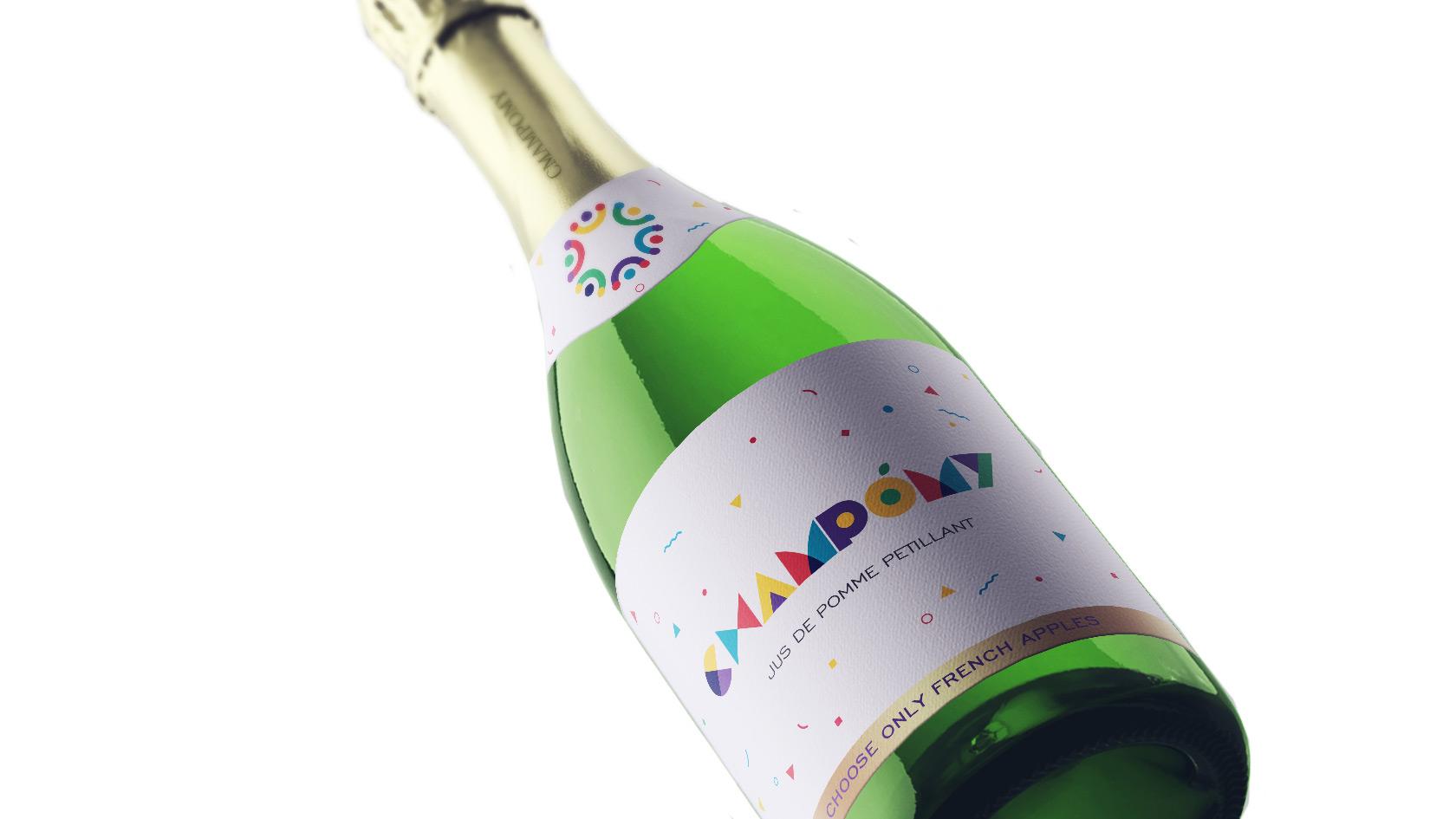 香槟logo9